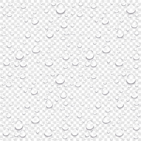 Ilustración de Realistic vector water drops transparent background. Clean drop condensation illustration art - Imagen libre de derechos