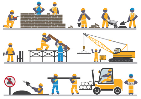 Photo pour Construction workers  Vector for you design - image libre de droit