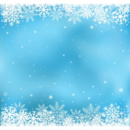 Illustration for The white snow on the blue mesh background, winter and Cristmas theme - Royalty Free Image