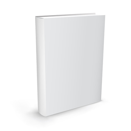 Illustration pour The white realistic book isolated on the white background - image libre de droit