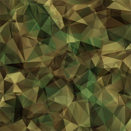 Illustration pour Abstract Vector Military Camouflage Background Made of Geometric Triangles Shapes - image libre de droit
