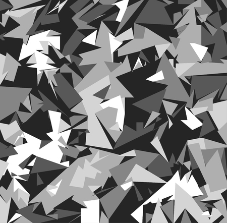 Illustration pour Abstract Vector Grey Military Camouflage Background. Pattern of Geometric Triangles Shapes for Army Clothing - image libre de droit