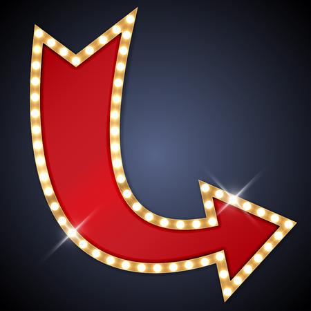 Ilustración de Retro arrow with space for text - Imagen libre de derechos
