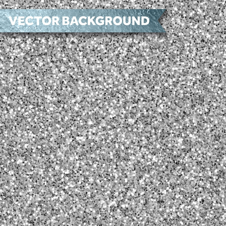 Illustration for Silver glitter textured backgound - Royalty Free Image