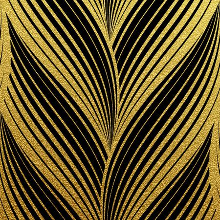 Ilustración de Gold glittering abstract waves pattern. Seamless texture with gold background - Imagen libre de derechos