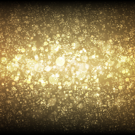 Illustration for Festive Christmas and New Year bokeh background with space for text message. - Royalty Free Image