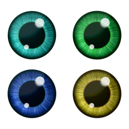 Illustration for Vector color eyes collection. Human pupil - Royalty Free Image