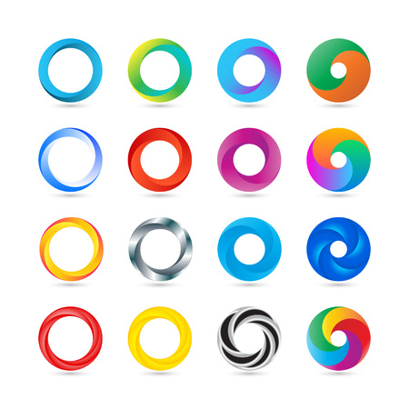 Illustration pour Business Abstract Circle icon. Corporate, Media, Technology styles vector design. - image libre de droit