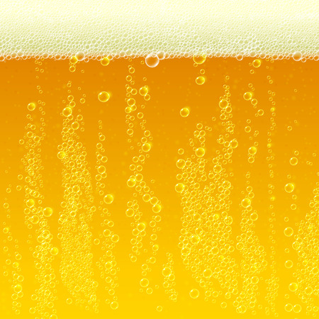 Beer background texture with foam and bubbles. Vector Illustration mural