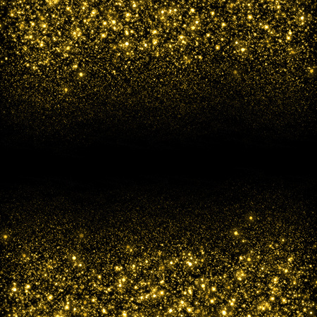 Photo for Gold sparkle glitter background. Glitter stars background. Sparkling flow background - Royalty Free Image