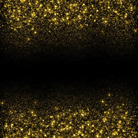 Photo pour Gold sparkle glitter background. Glitter stars background. Sparkling flow background - image libre de droit