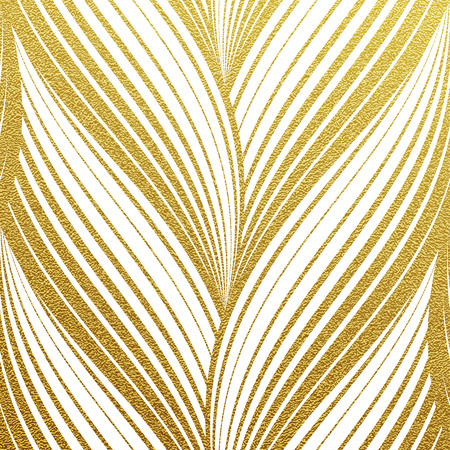 Photo pour Gold glittering abstract wavy stripes pattern. Seamless texture with gold background - image libre de droit