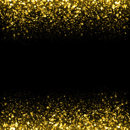 Foto de Gold sparkle glitter background. Glitter stars background. Sparkling flow background - Imagen libre de derechos