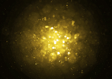 Photo for Defocused gold sparkle glitter lights background. Glitter bokeh background - Royalty Free Image