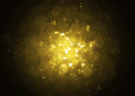 Photo pour Defocused gold sparkle glitter lights background. Glitter bokeh background - image libre de droit