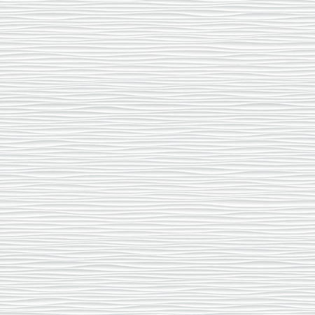Illustration pour White seamless texture. Wavy background. Interior wall decoration. 3D Vector interior wall panel pattern. Vector white background of abstract waves. - image libre de droit