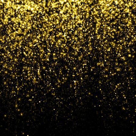 Foto de Gold sparkle glitter background - Imagen libre de derechos