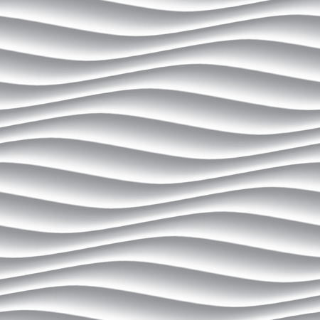 Illustration pour White panel wavy seamless texture. interior textured wall decoration. - image libre de droit