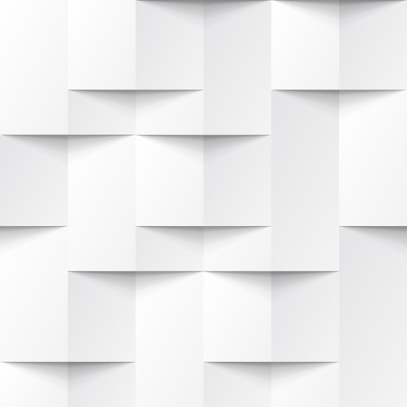 Illustration pour White seamless geometric texture. interior polygonal wall panel pattern. - image libre de droit