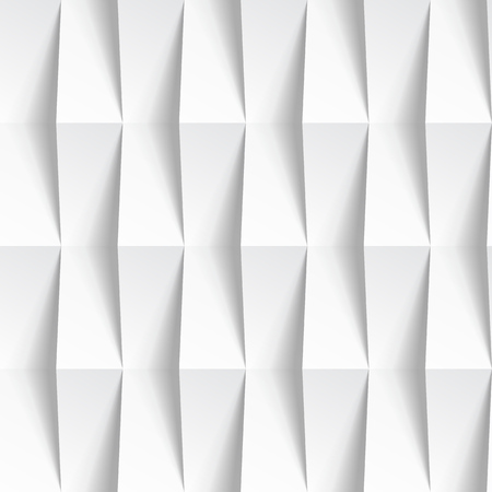 Illustration for White seamless geometric texture. interior polygonal wall panel pattern. - Royalty Free Image