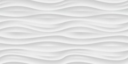 Illustration pour White seamless texture. Wavy background. Interior wall decoration. Vector interior panel pattern. - image libre de droit