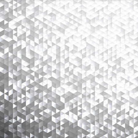 Illustration for Silver gray glittering lamina sequins mosaic angular dimensional pattern. - Royalty Free Image