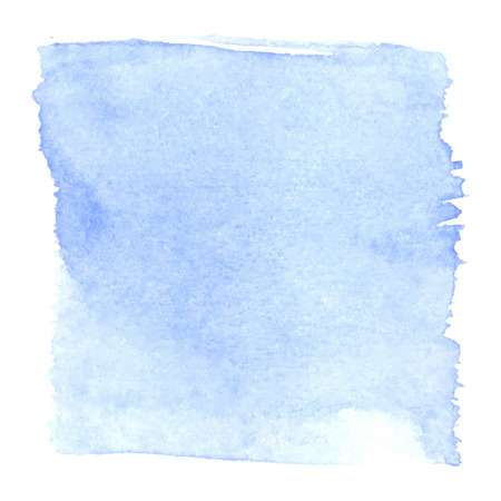 Photo for Light blue watercolour abstract square painting. Hand painted aquarelle art. - Royalty Free Image