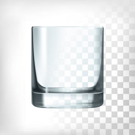Illustration pour Empty drinking whiskey glass cup on trsnaprent background - image libre de droit