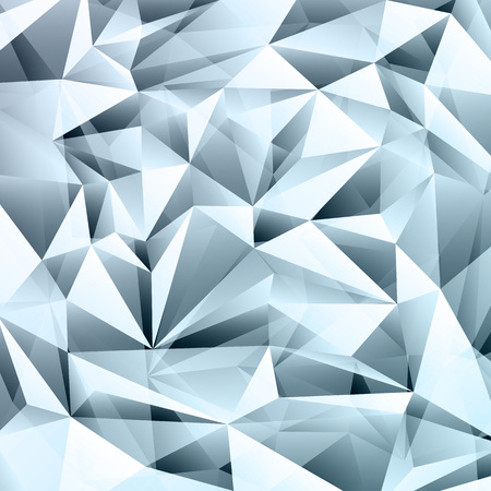 Illustration for Blue abstract crystal fractals texture background - Royalty Free Image