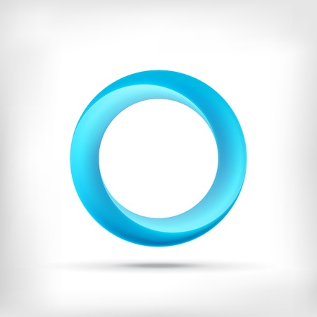 Illustrazione per Infinity shape round dimensional circle icon. Lollipop style. - Immagini Royalty Free