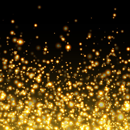 Illustration for Vector gold glittering sparkle stardust background - Royalty Free Image