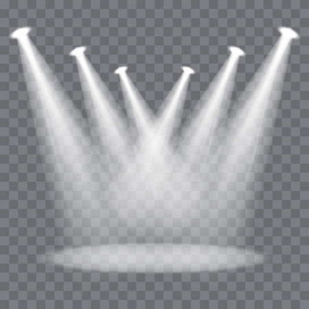 Illustration pour Vector stage spotlight beams on transparent background - image libre de droit