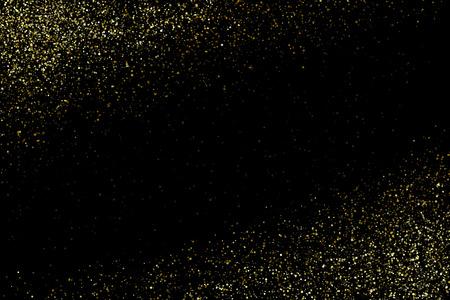 Ilustración de Vector gold glittering sparkle stardust space background - Imagen libre de derechos
