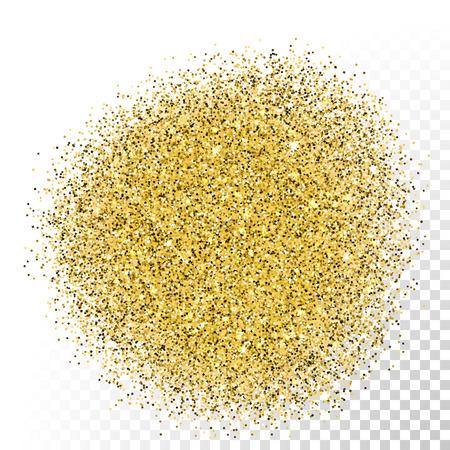 Ilustración de Vector gold glitter texture. Gold sparkles on transparent background - Imagen libre de derechos