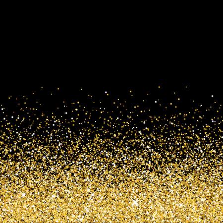 Illustration pour Vector gold glittering abstract particles on black background - image libre de droit