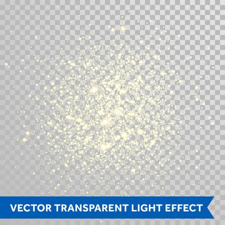 Ilustración de Vector shimmering sparks particles of fireworks explosion. Glittering light effect. Twinkling lights spray on transparent background. - Imagen libre de derechos
