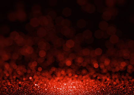 Photo for Red beautiful glitter sparkles. Textured fashion glamour sequins background. Christmas glittering wallpaper. Ruby gem shining splatter. - Royalty Free Image