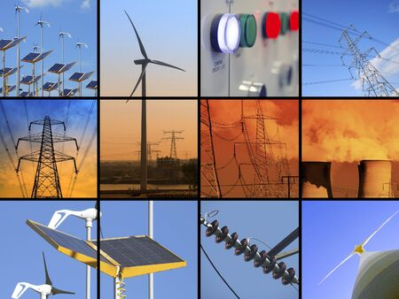 Set of twelve images relating to electricity