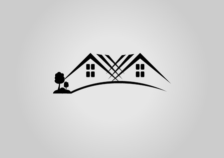 Illustration for House logo or icon - Royalty Free Image