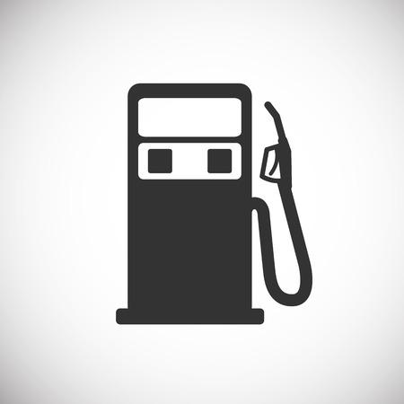 Illustration pour Gas Pump Icon silhouette - image libre de droit