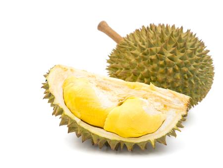 Photo pour King of fruits, Durian on white background. - image libre de droit
