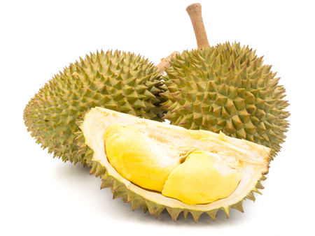 Photo for King of fruits, Durian on white background. - Royalty Free Image