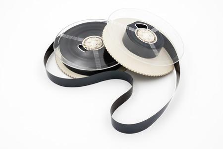 Foto de Film for video cassette tape on white background. - Imagen libre de derechos