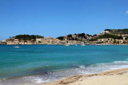 Soller beach of Mallorca wit