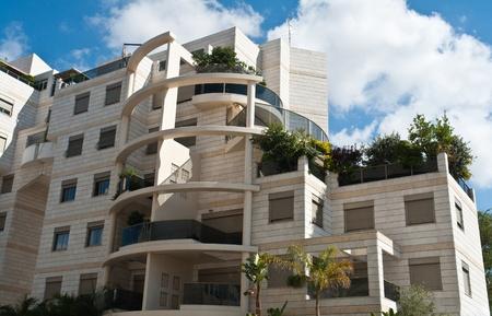 Modern design luxurious executive apartments city condominium building with green gardens