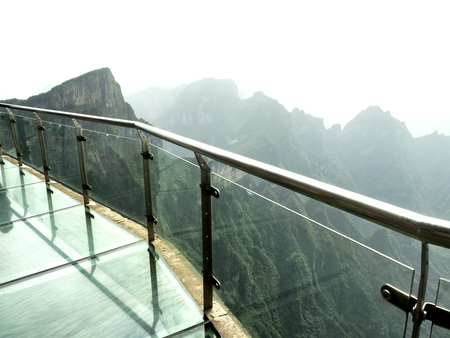 Photo for Cliff Glass Sky Walk at Tianmen Mountain, The Heaven's Gate at Zhangjiagie, Hunan Province, China, Asia - Royalty Free Image