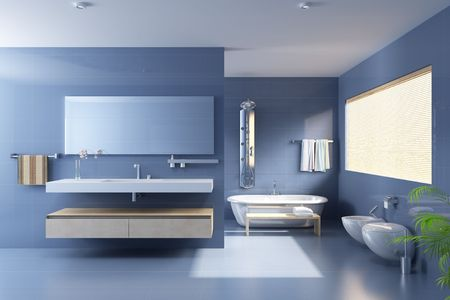 3d rendering a modern bathroom
