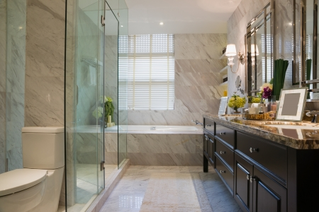 Photo for luxury bathroom with nice decoration - Royalty Free Image