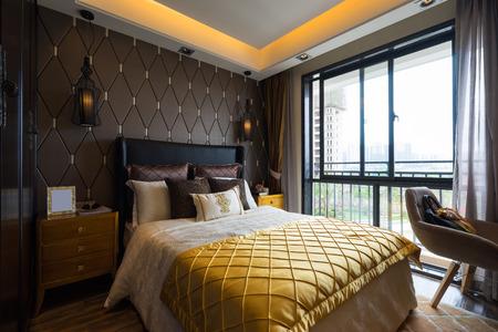 luxury bedroom with nice decoration