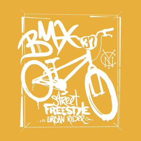 Illustrazione per BMX t-shirt Graphics. Extreme bike street style. - Immagini Royalty Free